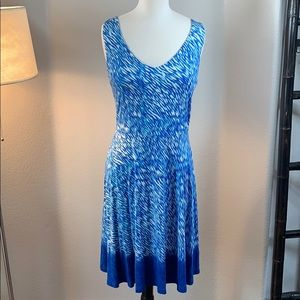 GUC athleta blue and white summer dress size M